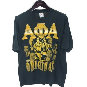 ALPHA PHI ALPHA T-shirt L Large Black Fraternity